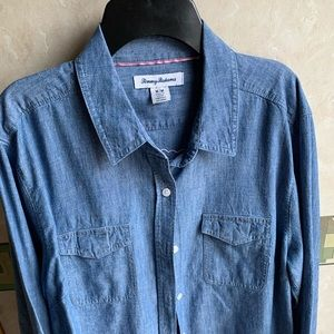 Women's Tommy Bahama denim shirt M